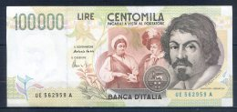 509-Italie Billet De 100 000 Lire 1992 UE562A - [ 2] 1946-… Republik