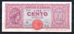 583-Italie Billet De 100 Lire 1944 K26 - 100 Lire