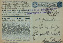 FRANCHIGIA POSTA MILITARE 14 1943 PODGORICA MONTENEGRO MEDAGLIA ORO NOE - 1900-44 Vittorio Emanuele III