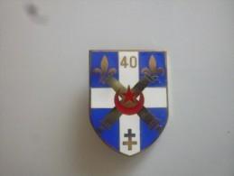 Insigne Du 40eme Regiment D Artillerie - Army
