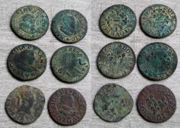 Lot Divers Double Tournois LOUIS XIII, Henri IV, Maximilien Etc... A VOIR!!! - 987-1789 Geld Van Koningen