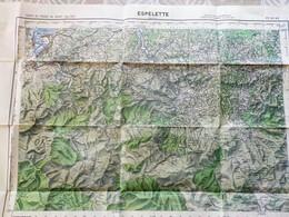 Carte 1 /50 000° IGN- ESPELETTE édit. 1952 (dont Hendaye, Ascain, Sare, Urdax, Irun, Ainhoa, Urrugne, St Pée, Biriatou - Cartes Topographiques
