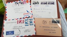 4 Lettre Karikal Inde Française ATTENTION Pas De Paypal - Inde (1892-1954)
