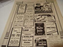 ANCIENNE PUBLICATION PROGRAMME SPECTACLE DE PARIS 1940 - Pubblicitari