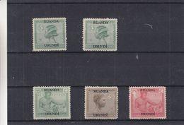 Ruanda Urundi - COB 79 / 80 * ( * )  - Coiffures - - Ruanda-Urundi