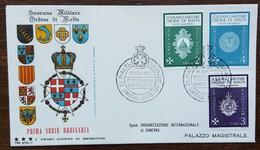 ORDRE DE MALTE - FDC 1966 - YT N°1, 2, 8 - Série Courante - Malte (Ordre De)