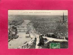 76 Seine Maritime, Rouen, Vue Générale Prise Côté Ste-Catherine, Animée, Bateaux De Pêche, 1908, (C. V.) - Rouen