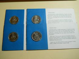 Lot 4 Coins 100 Escudos 1989 Porto Santo Portugal - Monnaies & Billets