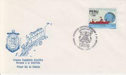 Peru 1988 1st Scientic Expedition In Antarctica 1v FDC (40487) - Peru