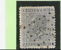 OCB 17 - Afstempeling Pt 358 - COBA 5 - 1865-1866 Profiel Links