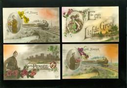Beau Lot De 20 Cartes Postales De Fantaisie Soldat Armée  Mooi Lot Van 20 Postkaarten Fantasie Soldaat Leger Militair - Cartes Postales