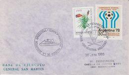 Argentina 1986 Antarctica/Base General San Martin CA 30 JUN 1986 Cover (40493) - Brieven En Documenten