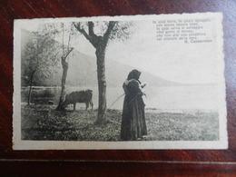 18505) LOCALITA' DA IDENTIFICARE DONNA E MUCCA CHE BEVE AL LAGO VIAGGIATA 1926 FRASE DI CAPPAROZZO - Cartoline