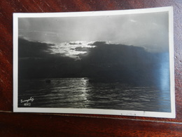 18508) FOTO ARTISTICA TRAMONTO SUL MARE VIAGGIATA 1927 - Cartoline