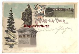Lithographie Souvenir Monument Francais A Mars La Tour Gravelotte 1898 - Otros Municipios
