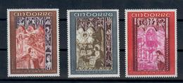 ANDORRA FR. -  1969- AFFRESCHI ALTARE ST JEAN DE CASELLES. SERIE COMPLETA. - MNH** - French Andorra