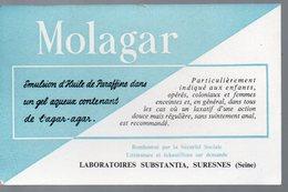 Suresnes (92 Hauts De Seine) Buvard  MOLAGAR Laxatif  (PPP14928) - Chemist's