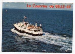 """Bateau  """"ACADIE"""" --1976-- Le Courrier De BELLE-ILE EN MER --L' Acadie En Mer Entre Quiberon Et Belle-ile En Mer - Ferries"""