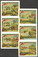 B175 2009 REPUBLIQUE DE GUINEE REPTILES DINOSAURS LES DINOSAURES 6 LUX BL MNH - Briefmarken