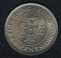 Hongkong, 50 Cents 1966, UNC - Hong Kong