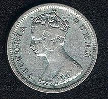 Hongkong, 10 Cents 1893, Silber - Hong Kong