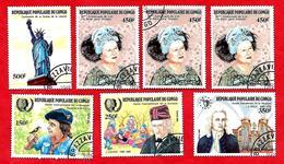 3202 --  REPUBLIQUE  POPULAIRE  DU  CONGO  -- N° 756 / 760 De 1985  Oblitérés - Collections