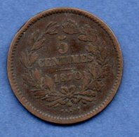 Luxembourg  --  5 Centimes 1870    -  Km # 22.1  -  état  TB - Luxembourg