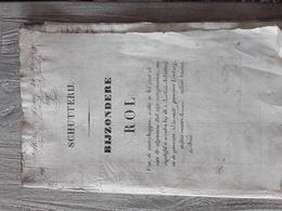 OUDE DOCUMENTEN SCHUTTERIJ OVERPELT     JAREN  1827 1828 1829 - Historical Documents