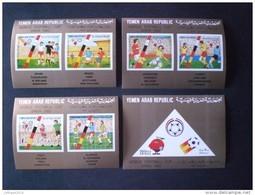 STAMPS YEMEN 1982 FOOTBALL WORLD CHAMPIONSHIP SPAIN  MICHEAL CATALOGUE 1753/1758 IMPERF - 1767 MUCH RARE SHEET  MNH - Jemen