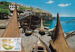 CARTE MAXIMUM - MAXIMUMKARTEN - MAXICARD - MAXIMUM CARD - PORTUGAL (MADEIRA) - BATEAU DE PÊCHE - CÂMARA DE LOBOS - Schiffe