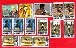 3208  --  REPUBLIQUE  POPULAIRE  DU  CONGO  -- POSTE  AERIENNE -  Lot  De  Timbres  Oblitérés - Collections