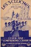 """Les 3 Cloches  Paroles Musique J. Villard 1945 Nlles Editions Meridian RARE Bas De Page """"Vente Interdite En Belgique"""". - Song Books"""