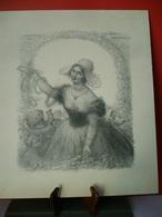 A MA CHERE NORMANDIE, Belle Normande Et Chérubins, Lithographie De Charles LEANDRE 1931 Format 39 X 45cm. - Lithographies