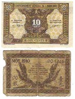 Lot De 2 Billets De Nécessité D' Indochine - Indochine