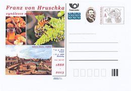 Rep. Ceca / Cart. Postali (Pre2013/18) Franz Von Hruschka (1819-1888) Inventore Di Miele Estrattore (2); Ape, Città Dolo - Fabbriche E Imprese