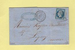 Ambulant - Clermont A Paris - Brigade E - 20 Dec 1858 - Obliteration CfP2° - Poste Ferroviaire