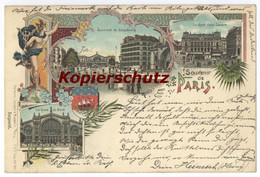 Paris Souvenir De Lithographie 1899 - Markten, Pleinen