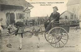 - Dpts Div.-ref-AC326- Haute Saone - Melisey -m. Faivre - Hotelier - Hoteliers -metiers - Attelage Ane - Attelages Anes - Francia