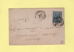 Ambulant - Clamecy A Paris - 10 Sept 1880 - Postmark Collection (Covers)