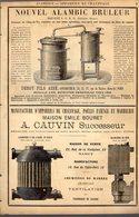 PUB 1891 - Alambic Deroy à Paris; Cauvin à Nancy; Lustres Appareils à Gaz Bardot à Lyon - Publicités