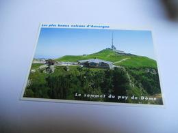 63 PUY DE DOME CARTE COULEUR DE 2006 LE SOMMET DU PUY DE DOME  LES PLUS BEAUX VOLCANS EDIT DEBAISIEUX - France