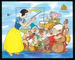 1987 Redonda Disney Biancaneve Set 2 Block MNH** B157 - Disney
