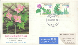 Japan FDC 1993, XV International Botanical Congress, Blumen, Fleurs, Flowers, Michel 2172 - 2173, Fleckig/stained (2096) - FDC