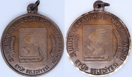 AC - 6th INTERNATIONAL GOLDEN HORN  HALF MARATHON 10 MAY 1992 ISTANBUL BRONZE MEDALLION - MEDAL - Athletics