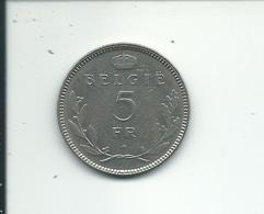 5 Frs 1936  Fl  Pos B - 1934-1945: Leopold III