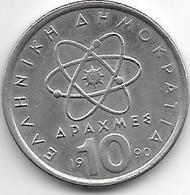 *greece 10 Drachme 1990  Km 132  Xf+ - Grèce