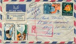 TERRITOIRE ANTARCTIQUE AUSTRALIEN  LETTRE RECOMMANDEE PAR AVION DEPART SURFERS PARADISE 5 JE 67 POUR LA FRANCE - Lettres & Documents