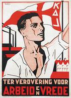 @@@ MAGNET - KAL Ter Verovering Voor Arbeid En Vrede, Alg. Sekretariaat Belgische Katholieke Arbeidsjeugd - Advertising