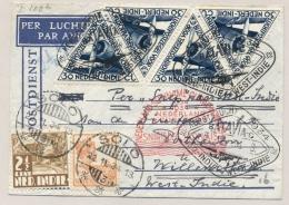 Nederlands Indië - 1934 - Cover Van LB Solo/3 Met Kerstvlucht Batavia Via Nederland Per Snip Naar Willemstad Curacao - Nederlands-Indië