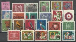 "BRD Jahrgang 1963"" 390-411 Kpl., Ausgewählte Qualität, Tip-top "" Postfrisch Mi.-Preis 10,00 - [7] République Fédérale"